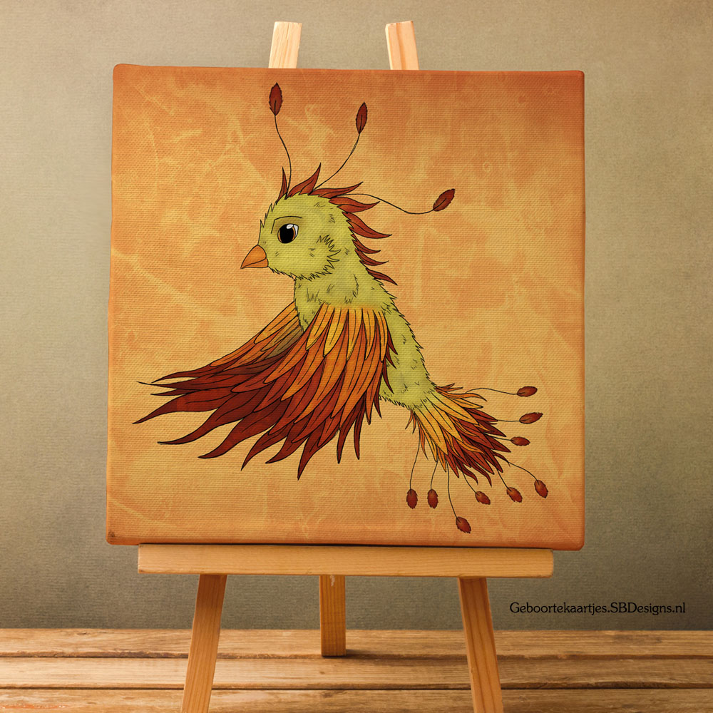 Canvas-Art-Feniks-Phoenix-Art-Fantasy-Muurdecoratie-1